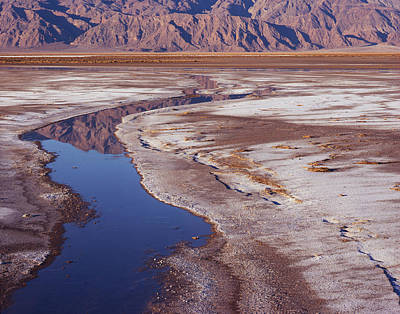 Photograph - Death Valley Salt Stream 1-h by Tom Daniel