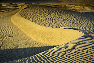 Death Valley Photograph - Death Valley Snake Dune At First Light by John Aydelotte