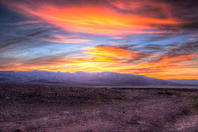 Death Valley Sunset Art Print by Heidi Smith