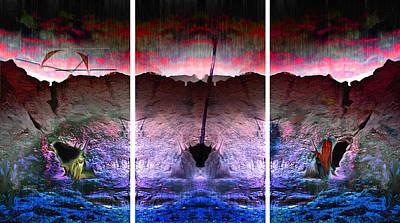 Death Valley Mixed Media - Death Valley Triptih  by Sinisha Glisic