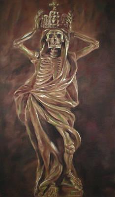 Death With A Crown Art Print by Paez  Antonio