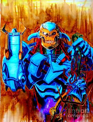 Transformer Drawing - Death's Head II by Justin Moore