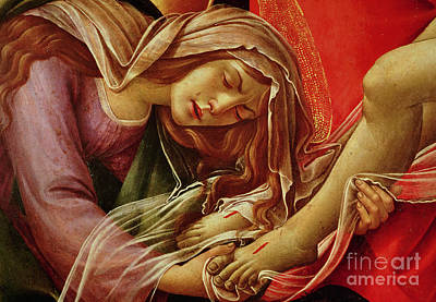 Botticelli Painting - Deatil From The Lamentation Of Christ by Sandro Botticelli