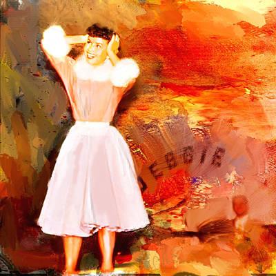 Debbie Reynolds Art Print by Dale Stillman