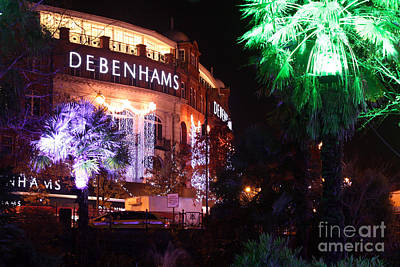 Photograph - Debenhams Bournemouth At Christmas by Terri Waters