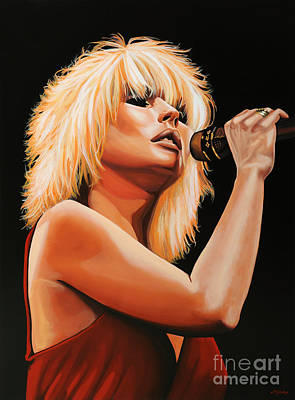 Glass Art Painting - Deborah Harry Or Blondie 2 by Paul Meijering