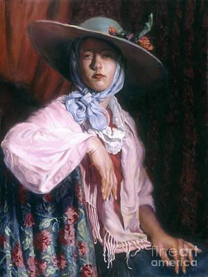 Deborah In A Big Hat Original