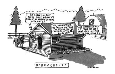 Etc Drawing - Debunkhouse by Michael Crawford
