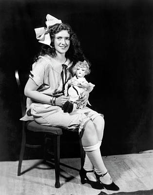 Photograph - Debutante With Doll by Underwood Archives