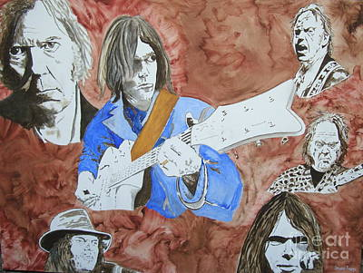 Neil Young Painting - Decades by Stuart Engel