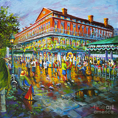 Jackson Square Painting - Decatur Evening by Dianne Parks