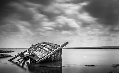 Photograph - Decaying Boat. by Gary Gillette