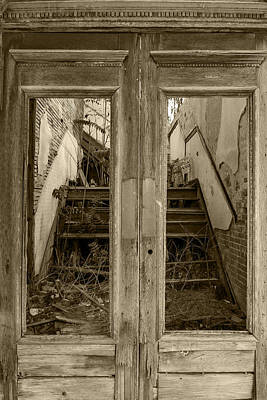 Photograph - Decaying History In Black And White by Jim Moss
