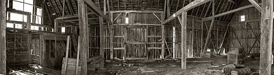 Rural Decay Digital Art - Decaying Interior Of A Rustic Barn by Thomas Woolworth
