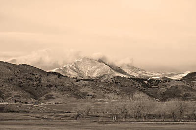 Photograph - December 16th Twin Peak Sunrise Sepia View by James BO  Insogna