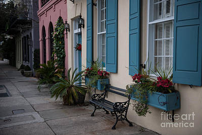 Photograph - December Along Rainbow Row by Dale Powell