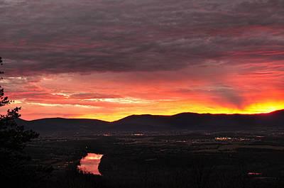 Photograph - December Firey Dawn by Lara Ellis