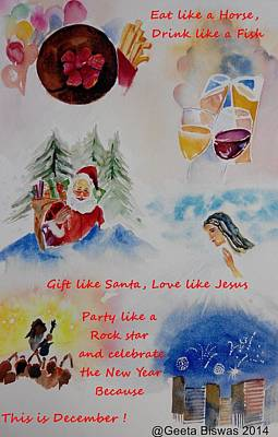 Painting - December  by Geeta Biswas