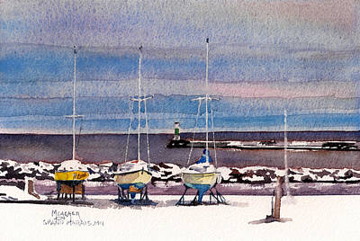 December In Grand Marais Original by Spencer Meagher