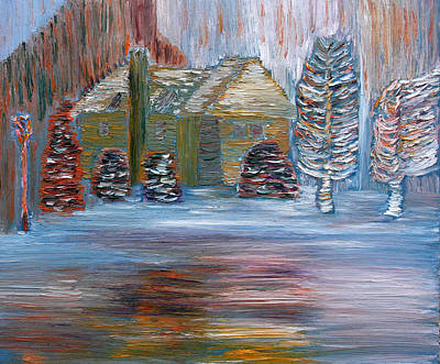 Art Print featuring the painting December In Highland New York by Vadim Levin