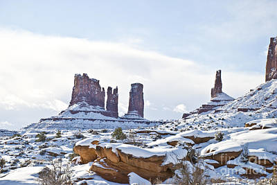 Photograph - December In Monument Valley by Kate Sumners