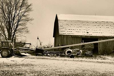 Barns In Snow Photograph - December In The Country by Dan Sproul