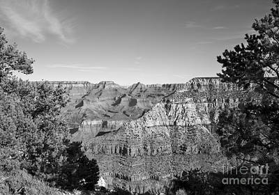 Photograph - December Light In The Grand Canyon In Black And White by Lee Craig