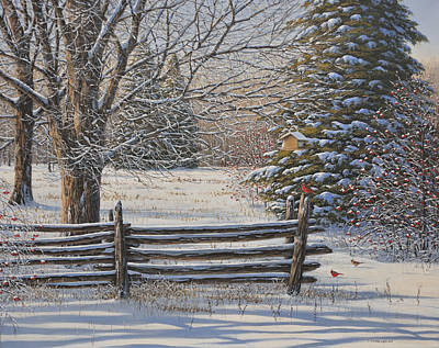 Painting - December Snow by Jake Vandenbrink