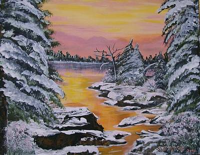 Painting - December Sunrise by Sharon Duguay