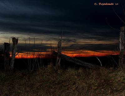 Photograph - December Sunset On Point Mountain by Carolyn Postelwait