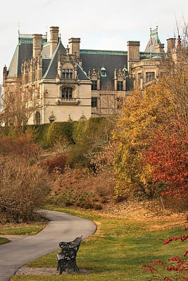 Art Print featuring the photograph December Walk At The Biltmore by Tammy Schneider