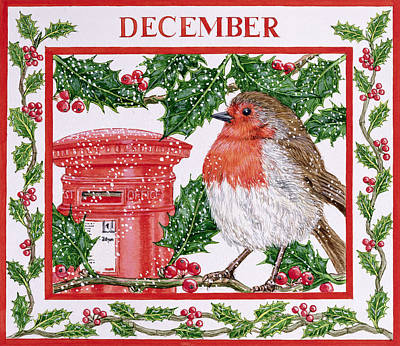 December Wc On Paper Art Print by Catherine Bradbury