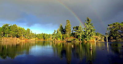 Decembers Double Rainbow Art Print by Kristal Talbot