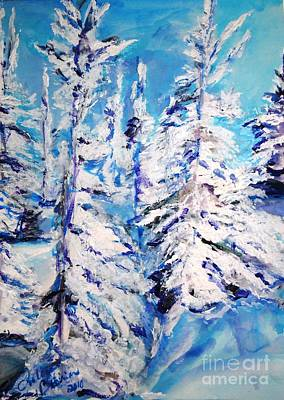 Painting - December's Solitude by Helena Bebirian