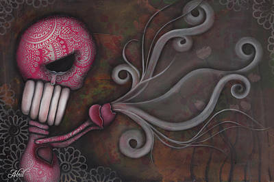 Pop Surrealism Painting - Deception by Abril Andrade Griffith