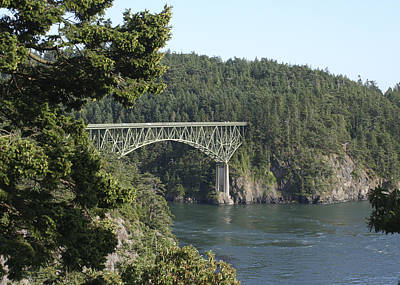 Photograph - Deception Pass Bridge Iv by Mary Gaines