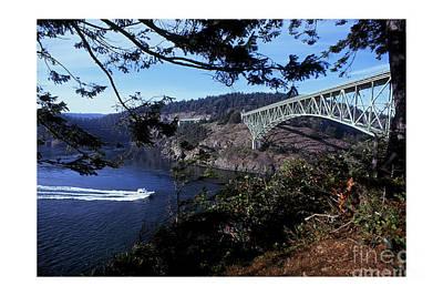 Photograph - Deception Pass Bridge Washington State 1976 by California Views Archives Mr Pat Hathaway Archives