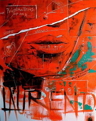 Painting - Dechirure by Laurend Doumba