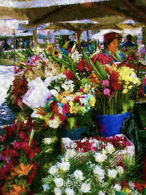 Photograph - Decisions At The Flower Market Cuenca by Kurt Van Wagner