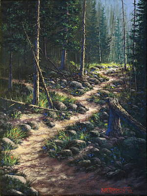 Fork In The Road Painting - Decisions Determine Destiny by Kirt Harmon