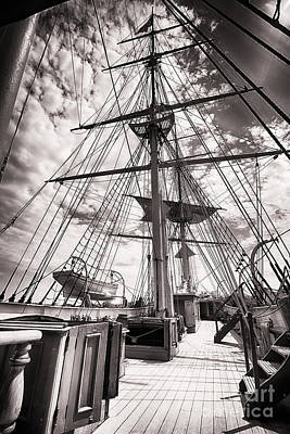 Deck And Masts Art Print by George Oze