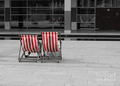 Photograph - Deck Chairs by David Warrington