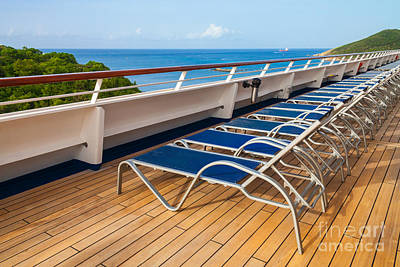 Photograph - Deck Chairs On Deck by Diane Macdonald
