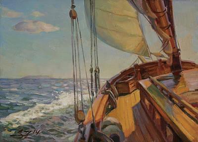 Painting - Deck Of Ship by Serguei Zlenko