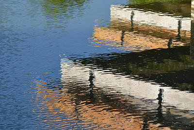 Wall Art - Photograph - Deck Reflections by Bill Mock
