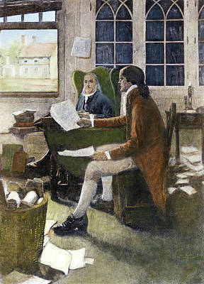 American Revolution Painting - Declaration Of Independence, 1776 by Granger