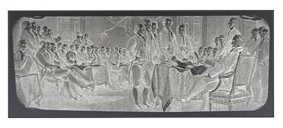 Declaration Of Independence In Negative Art Print