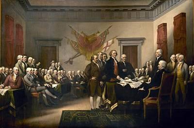 Politicians Digital Art - Declaration of Independence by John Trumbull