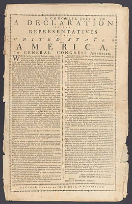 4th July 1776 Photograph - Declaration Of Independence by Paul Van Scott