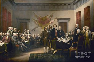 Declaration Of Independence Art Print by Pg Reproductions